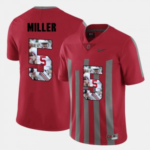 #5 Braxton Miller Ohio State Buckeyes Men Pictorial Fashion Jersey - Red