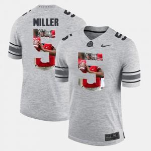 #5 Braxton Miller Ohio State Buckeyes Men Pictorital Gridiron Fashion Pictorial Gridiron Fashion Jersey - Gray