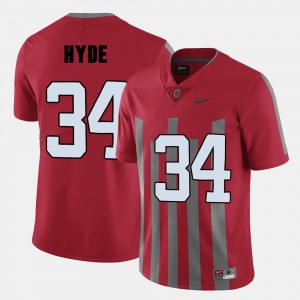#34 CameCarlos Hyde Ohio State Buckeyes Men's College Football Jersey - Red