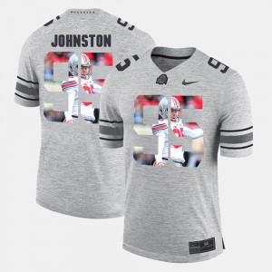 #95 Cameron Johnston Ohio State Buckeyes Pictorital Gridiron Fashion Pictorial Gridiron Fashion Mens Jersey - Gray