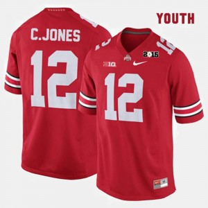 #12 Cardale Jones Ohio State Buckeyes College Football Kids Jersey - Red