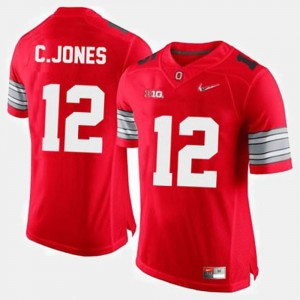 #12 Cardale Jones Ohio State Buckeyes Men's College Football Jersey - Red