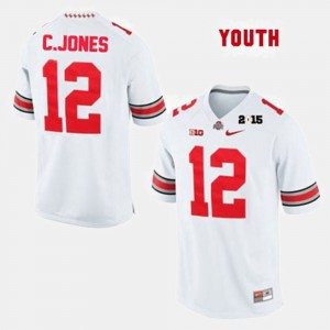 #12 Cardale Jones Ohio State Buckeyes Youth College Football Jersey - White