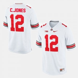 #12 Cardale Jones Ohio State Buckeyes Men's College Football Jersey - White