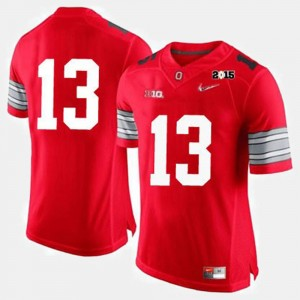 #13 Ohio State Buckeyes Men's College Football Jersey - Red
