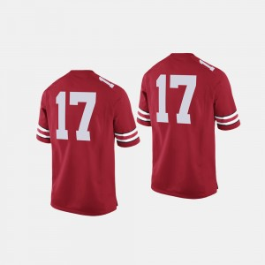 #17 Ohio State Buckeyes College Football For Men's Jersey - Scarlet