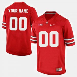 #00 Ohio State Buckeyes College Football Mens Custom Jersey - Red