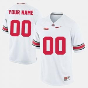 #00 Ohio State Buckeyes College Football Men Customized Jerseys - White