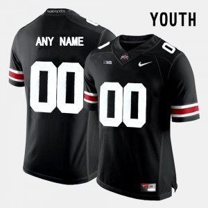 #00 Ohio State Buckeyes College Limited Football Youth Custom Jersey - Black