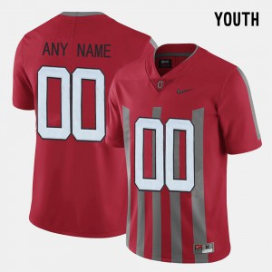 #00 Ohio State Buckeyes Youth Throwback Customized Jersey - Red