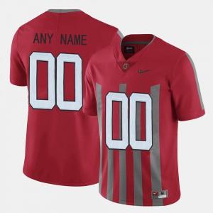 #00 Ohio State Buckeyes Mens Throwback Custom Jerseys - Red