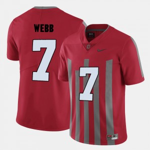 #7 Damon Webb Ohio State Buckeyes College Football For Men Jersey - Red