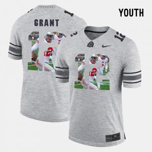 #12 Doran Grant Ohio State Buckeyes Pictorital Gridiron Fashion Pictorial Gridiron Fashion Youth(Kids) Jersey - Gray