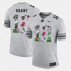 #12 Doran Grant Ohio State Buckeyes Pictorital Gridiron Fashion Pictorial Gridiron Fashion Mens Jersey - Gray