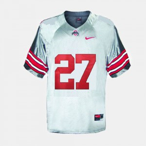 #27 Eddie George Ohio State Buckeyes For Men College Football Jersey - Gray