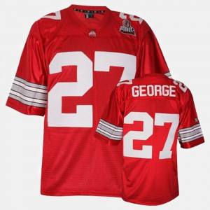 #27 Eddie George Ohio State Buckeyes College Football Men Jersey - Red