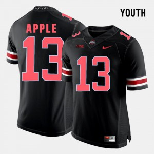 #13 Eli Apple Ohio State Buckeyes College Football For Kids Jersey - Black