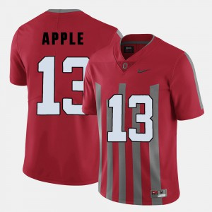 #13 Eli Apple Ohio State Buckeyes For Men's College Football Jersey - Red