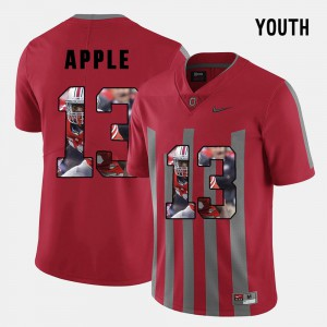 #13 Eli Apple Ohio State Buckeyes Pictorial Fashion Youth(Kids) Jersey - Red