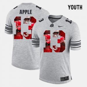 #13 Eli Apple Ohio State Buckeyes Kids Pictorial Gridiron Fashion Pictorital Gridiron Fashion Jersey - Gray