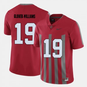 #19 Eric Glover-Williams Ohio State Buckeyes For Men's College Football Jersey - Red