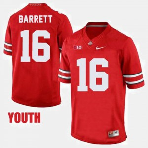 #16 J.T. Barrett Ohio State Buckeyes Youth College Football Jersey - Red