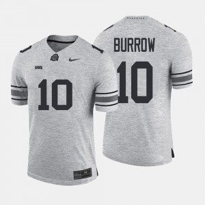 #10 Joe Burrow Ohio State Buckeyes Gridiron Gray Limited Gridiron Limited Mens Jersey - Gray