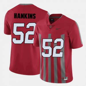 #52 Johnathan Hankins Ohio State Buckeyes For Men College Football Jersey - Red