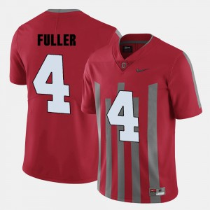 #4 Jordan Fuller Ohio State Buckeyes College Football Mens Jersey - Red