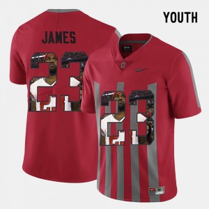 #23 Lebron James Ohio State Buckeyes Pictorial Fashion Youth(Kids) Jersey - Red