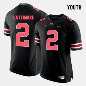 #2 Marshon Lattimore Ohio State Buckeyes College Football Youth(Kids) Jersey - Black