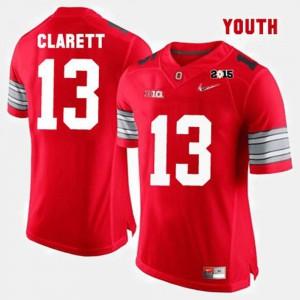 #13 Maurice Clarett Ohio State Buckeyes College Football Kids Jersey - Red
