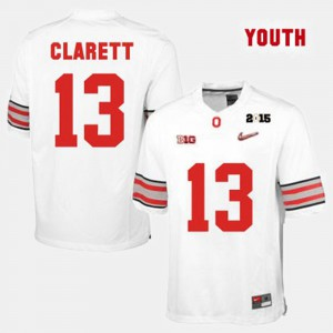 #13 Maurice Clarett Ohio State Buckeyes College Football For Kids Jersey - White