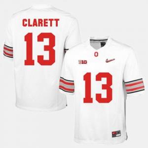#13 Maurice Clarett Ohio State Buckeyes For Men's College Football Jersey - White