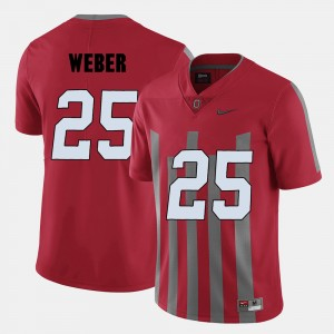 #25 Mike Weber Ohio State Buckeyes College Football Men Jersey - Red
