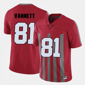 #81 Nick Vannett Ohio State Buckeyes College Football For Men Jersey - Red
