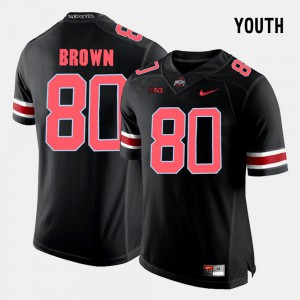 #80 Noah Brown Ohio State Buckeyes College Football For Kids Jersey - Black