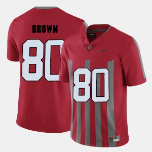 #80 Noah Brown Ohio State Buckeyes Mens College Football Jersey - Red