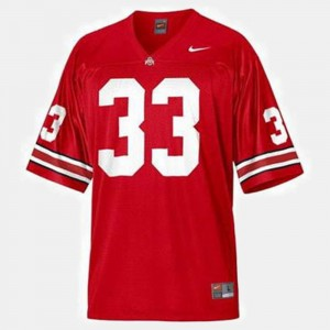 #33 Pete Johnson Ohio State Buckeyes College Football For Men Jersey - Red