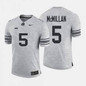#5 Raekwon McMillan Ohio State Buckeyes Gridiron Gray Limited Gridiron Limited Men's Jersey - Gray