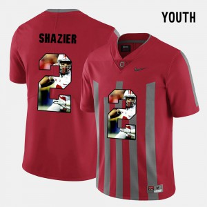 #2 Ryan Shazier Ohio State Buckeyes Pictorial Fashion Youth(Kids) Jersey - Red