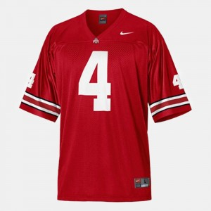 #4 Santonio Holmes Ohio State Buckeyes For Men College Football Jersey - Red