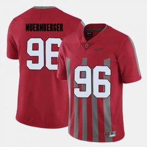 #96 Sean Nuernberger Ohio State Buckeyes College Football For Men Jersey - Red