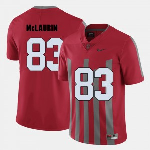 #83 Terry McLaurin Ohio State Buckeyes College Football Mens Jersey - Red