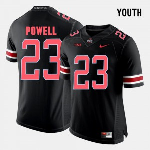 #23 Tyvis Powell Ohio State Buckeyes Youth(Kids) College Football Jersey - Black