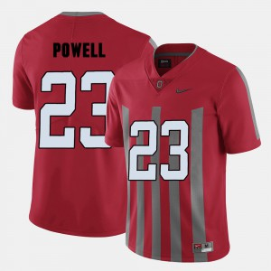 #23 Tyvis Powell Ohio State Buckeyes College Football For Men's Jersey - Red