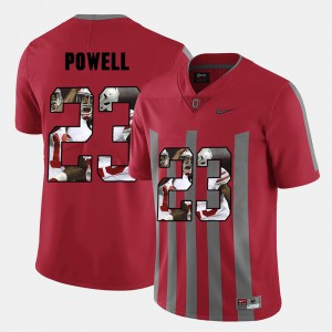 #23 Tyvis Powell Ohio State Buckeyes For Men's Pictorial Fashion Jersey - Red