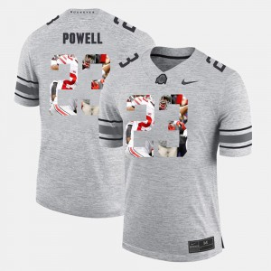 #23 Tyvis Powell Ohio State Buckeyes For Men's Pictorital Gridiron Fashion Pictorial Gridiron Fashion Jersey - Gray