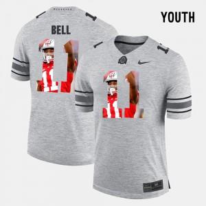 #11 Vonn Bell Ohio State Buckeyes For Kids Pictorital Gridiron Fashion Pictorial Gridiron Fashion Jersey - Gray