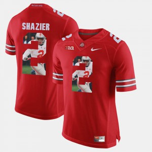 #2 Ryan Shazier Ohio State Buckeyes Men's Pictorial Fashion Jersey - Scarlet
